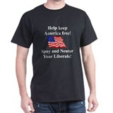 Keep America Free Black T-Shirt