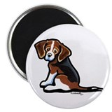 Cute Tri-color Beagle Magnet