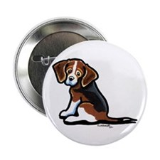 "Cute Tri-color Beagle 2.25"" Button"