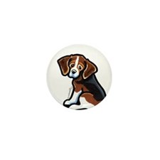 Cute Tri-color Beagle Mini Button (100 pack)