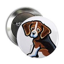"""Cute Tri-color Beagle 2.25"""" Button"""