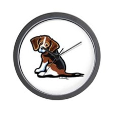 Cute Tri-color Beagle Wall Clock