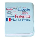 France - Liberty, Equality, F baby blanket