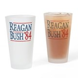Reagan Bush 84 retro Drinking Glass