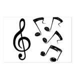G-clef with Musical NOTES IV Postcards (Package of