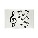 G-clef with Musical NOTES IV Rectangle Magnet (10