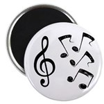 G-clef with Musical NOTES IV Magnet