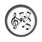 G-clef with Musical NOTES IV Wall Clock