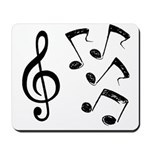 G-clef with Musical NOTES IV Mousepad