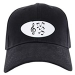 G-clef with Musical NOTES IV Black Cap