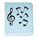 G-clef with Musical NOTES IV baby blanket
