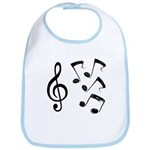 G-clef with Musical NOTES IV Bib