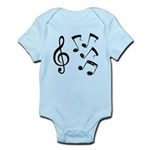 G-clef with Musical NOTES IV Infant Bodysuit