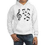 G-clef with Musical NOTES IV Hooded Sweatshirt