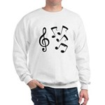 G-clef with Musical NOTES IV Sweatshirt
