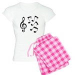 G-clef with Musical NOTES IV Women's Light Pajamas
