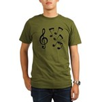 G-clef with Musical NOTES IV Organic Men's T-Shirt