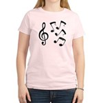 G-clef with Musical NOTES IV Women's Light T-Shirt