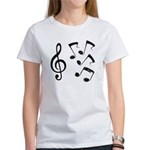 G-clef with Musical NOTES IV Women's T-Shirt