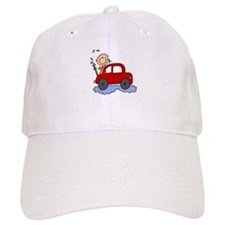 Stick Girl Washing Car Baseball Cap