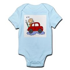Stick Girl Washing Car Infant Bodysuit