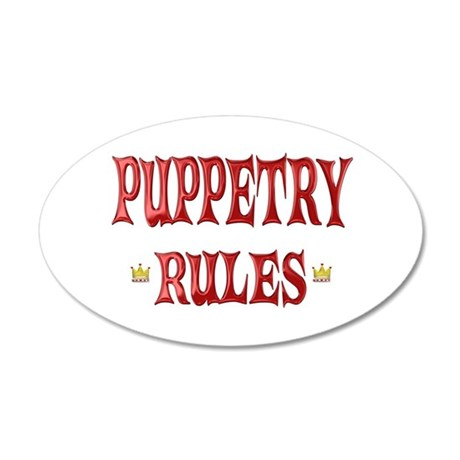 Puppetry Rules 38.5 x 24.5 Oval Wall Peel