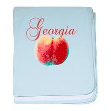 Georgia Peach baby blanket