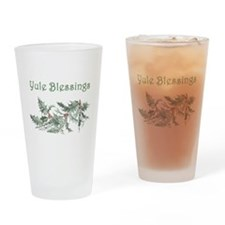 Yule Blessings Drinking Glass