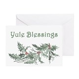 Yule Blessings Greeting Card