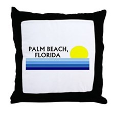 Funny West palm beach Throw Pillow