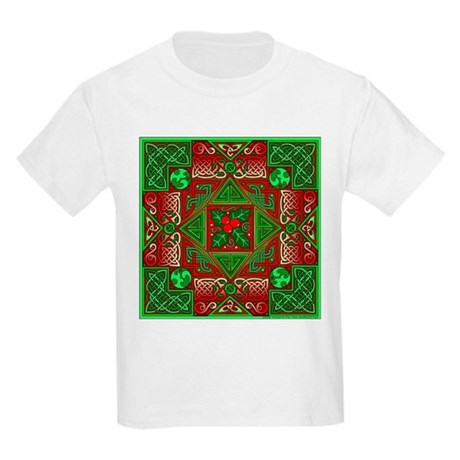 Celtic Labyrinth Holly Kids T-Shirt