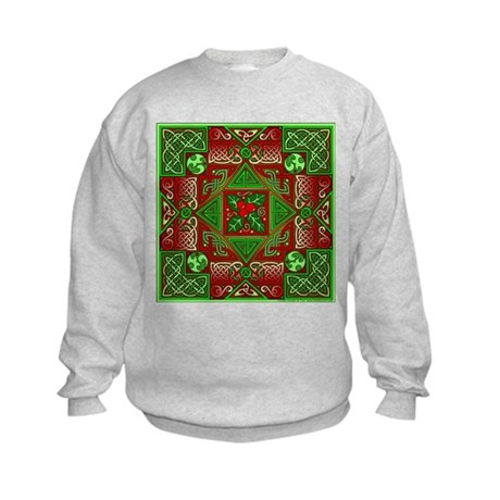 Celtic Labyrinth Holly Kids Sweatshirt