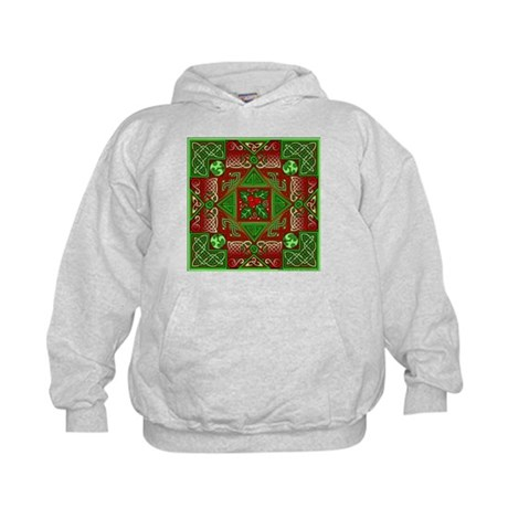 Celtic Labyrinth Holly Kids Hoodie