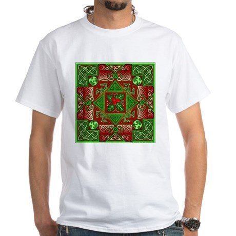 Celtic Labyrinth Holly White T-Shirt