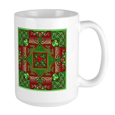 Celtic Labyrinth Holly Large Mug