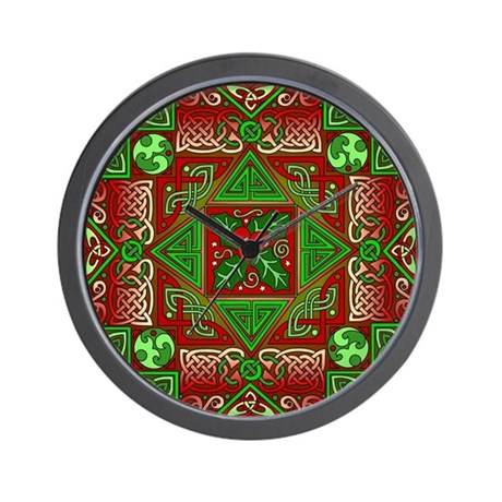 Celtic Labyrinth Holly Wall Clock
