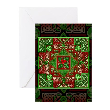 Celtic Labyrinth Holly Greeting Cards (Pkg. of 10)