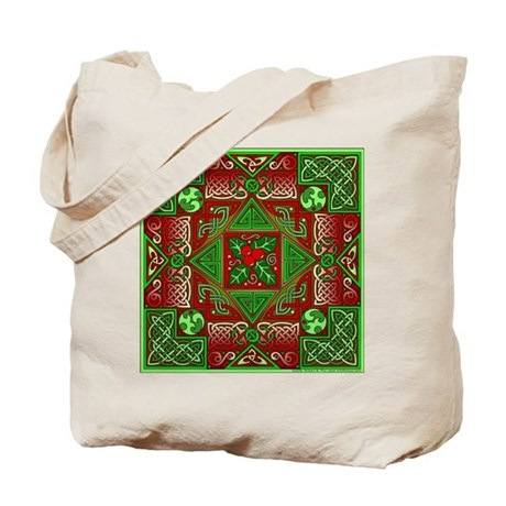 Celtic Labyrinth Holly Tote Bag