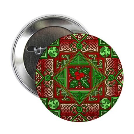 Celtic Labyrinth Holly Button