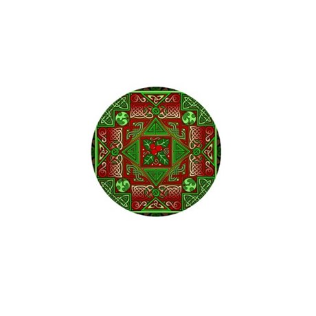 Celtic Labyrinth Holly Mini Button