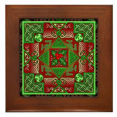 Celtic Labyrinth Holly Framed Tile