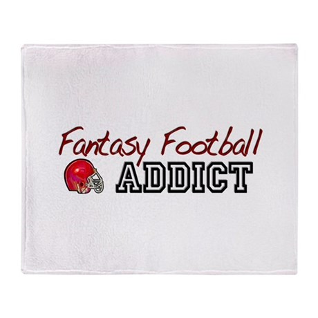 Fantasy Football Addict Throw Blanket