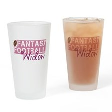 Fantasy Football Widow Drinking Glass