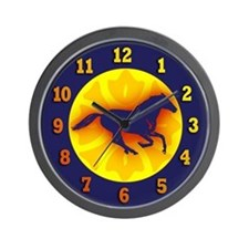 Galloping Horse, Fire Bronco Wall Clock