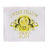 I Wear Yellow for my Son (flo Throw Blanket