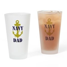 Navy Dad Drinking Glass