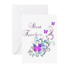 Best Teacher Greeting Cards (Pk of 10)