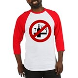 Funny NO Smoking Alcohol Sign Baseball Jersey