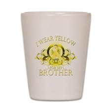 I Wear Yellow for my Brother Shot Glass