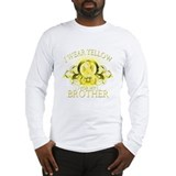I Wear Yellow for my Brother Long Sleeve T-Shirt